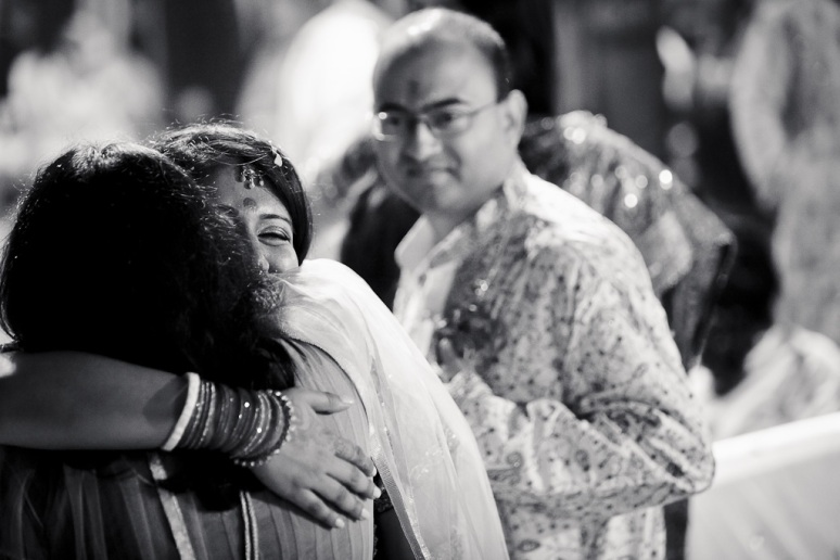 New Delhi Indian Wedding Photographer Grace Havlak Bride Hugging Sister