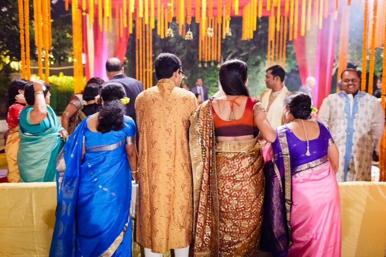 New Delhi Indian Wedding Photographer Grace Havlak Guests Watching Wedding