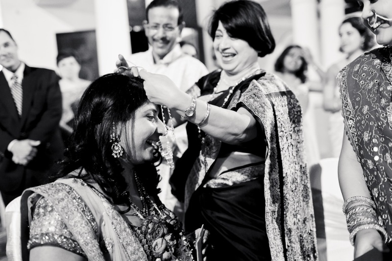 New Delhi Indian Wedding Photographer Grace Havlak Grooms Mother Giving Bride Jewelry