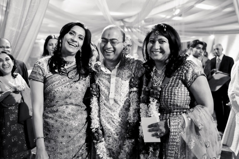 New Delhi Indian Wedding Photographer Grace Havlak Groom With Bride and Sister