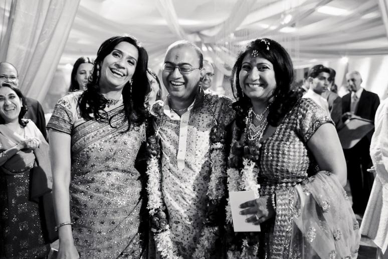 New Delhi Indian Wedding Photographer Grace Havlak Groom With Bride and Sister