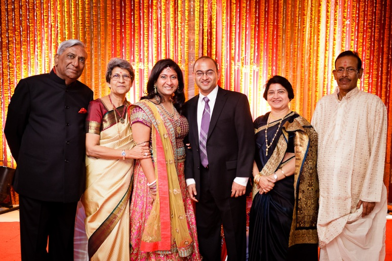 New Delhi Indian Wedding Photographer Grace Havlak Bride and Groom with Parents