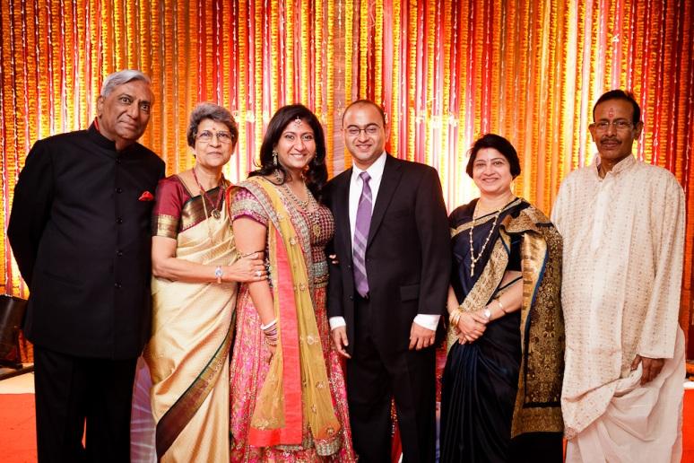 New Delhi Indian Wedding Photographer Grace Havlak Bride and Groom with Parents