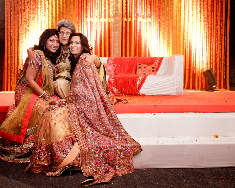 New Delhi Indian Wedding Photographer Grace Havlak Bride with Mother and Sister
