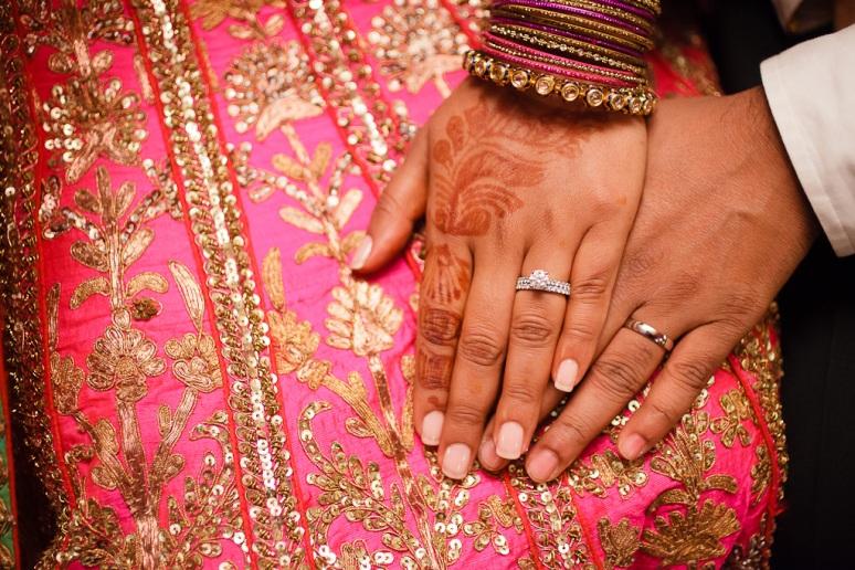 New Delhi Indian Wedding Photographer Grace Havlak Bride & Groom's Hands