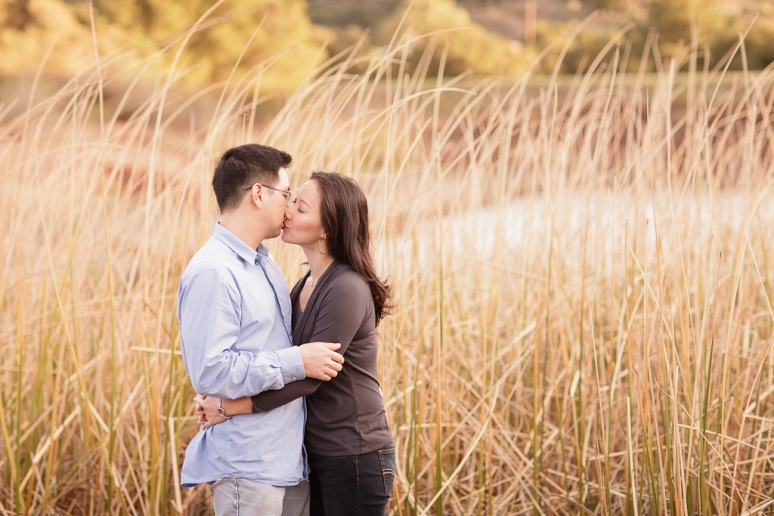 Los Angeles Engagement Session Malibu Wedding Couple in Tall Grass