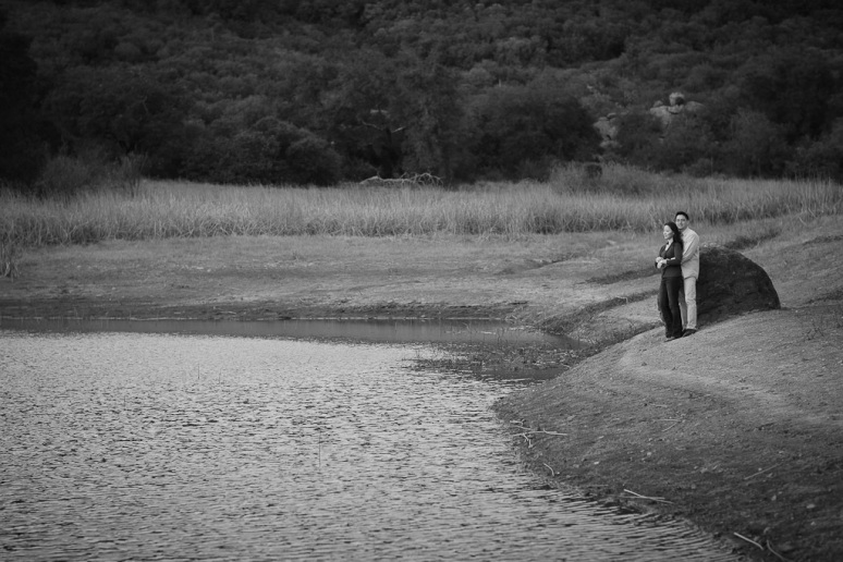 Los Angeles Engagement Session Malibu Wedding Couple by Lake