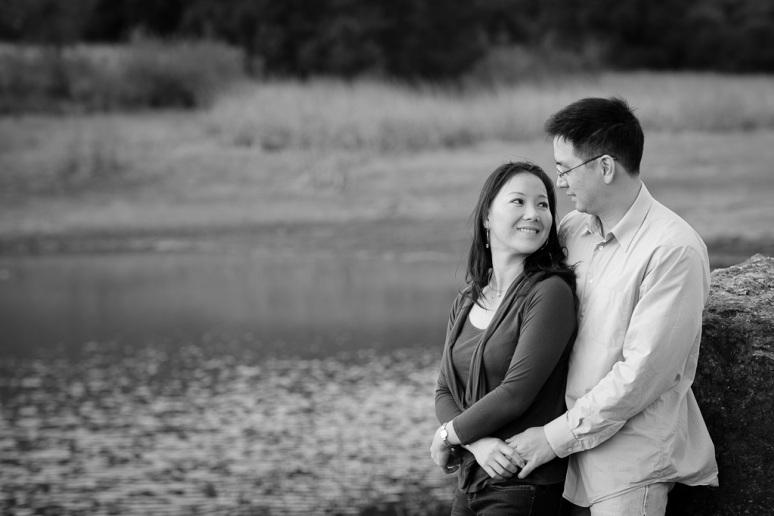 Los Angeles Engagement Session Malibu Wedding Engaged Couple by Lake
