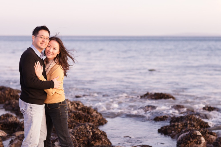 Los Angeles Engagement Session Malibu Wedding Couple on Beach