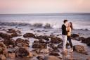 Los Angeles Engagement Session Malibu Wedding Engaged Couple on Beach