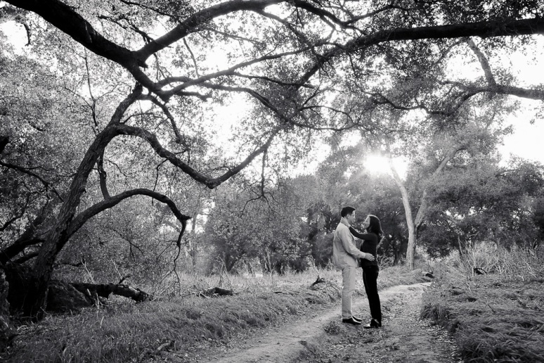 Los Angeles Engagement Session Malibu Wedding Couple on Trail