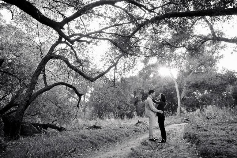 Los Angeles Engagement Session Malibu Wedding Couple on Trail