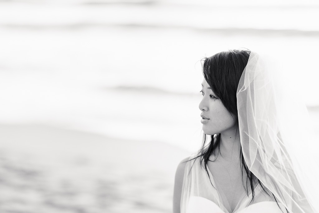 Los Angeles Marina Del Rey Bride on Beach in Blush Pink Vera Wang Wedding Gown