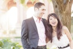 San Francisco Wedding Photographer shot of couple laughing during engagement shoot