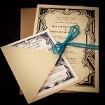 Los Angeles Wedding Photographer Art Deco Invitations
