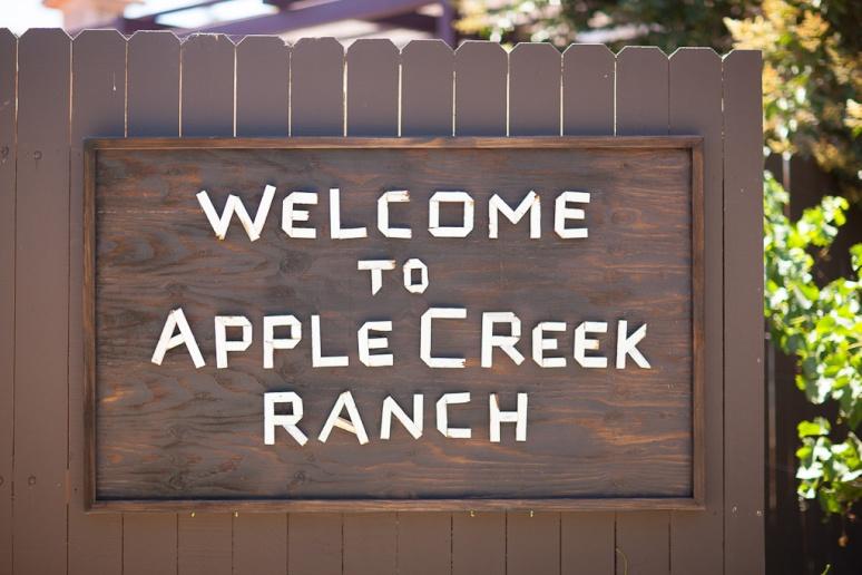 Santa Barbara Wedding Photographer Apple Creek Ranch Sign outside Santa Ynez
