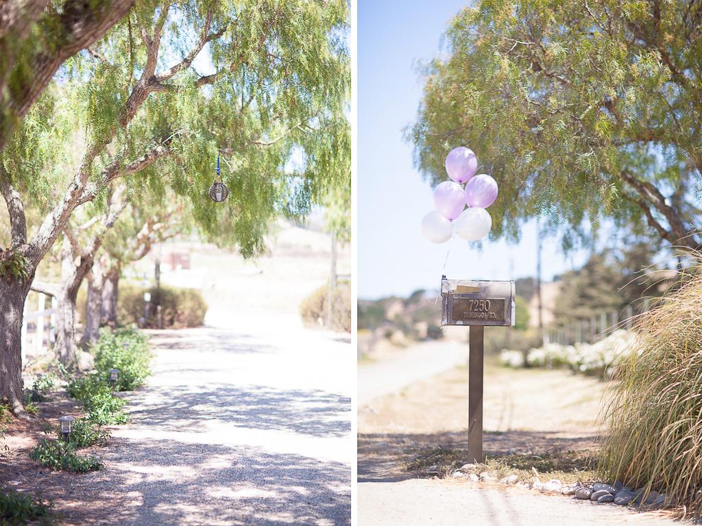 Santa Barbara Wedding Photographer Decorations outside Apple Creek Ranch near Santa Ynez