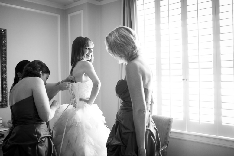 Los Angeles Wedding Photographer bride getting ready the Millenium Biltmore Hotel