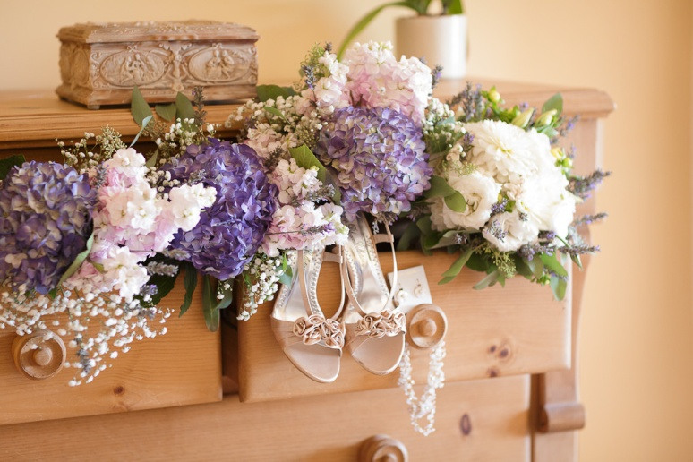 Santa Barbara Wedding Photographer Bride's Shows & Bouquet Apple Creek Ranch