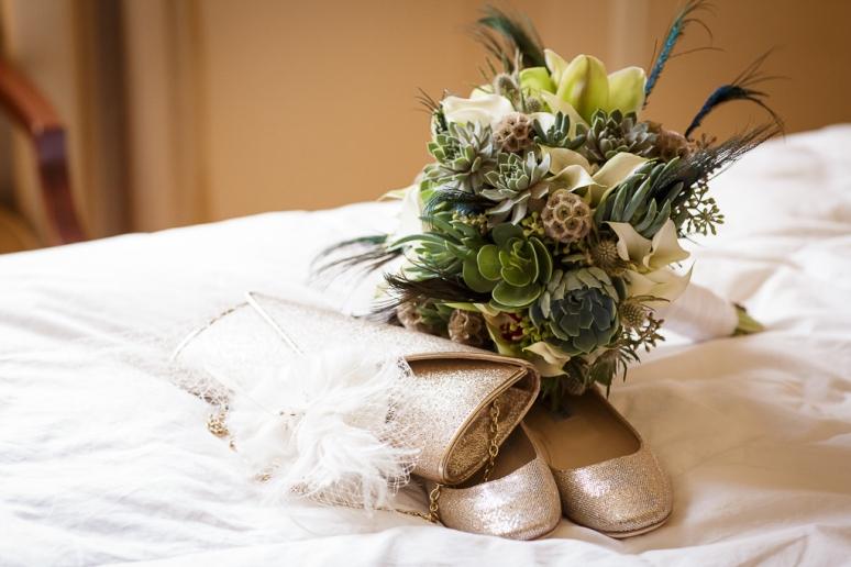 Los Angeles Wedding Photographer Art Deco Bouquet at the Millenium Biltmore Hotel
