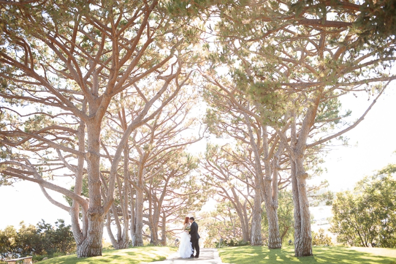Los Angeles Palos Verdes Wedding Photographer Bride and Groom at the Art Deco Lloyd Wright's Wayfarer's Chapel