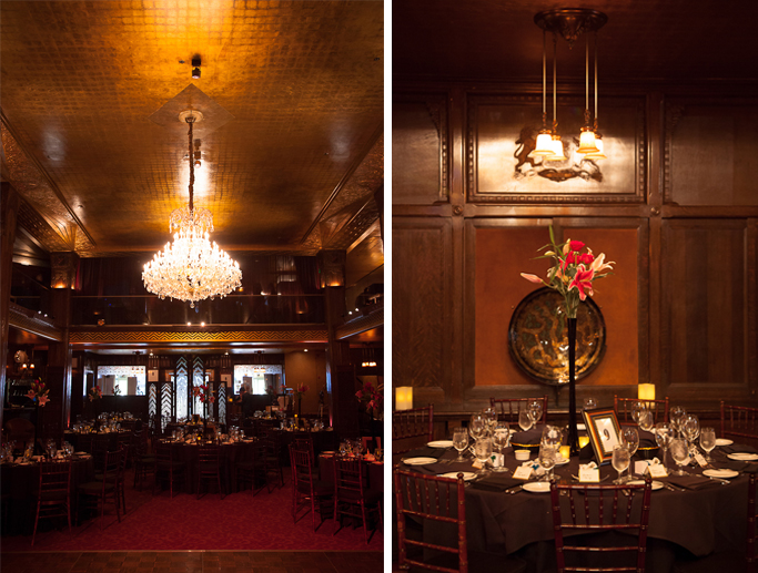 Downtown Los Angeles Wedding Photographer Interior of the Art Deco 1928 Cicada Restaurant