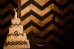 Downtown Los Angeles Wedding Photographer Art Deco Wedding Cake 1928 Cicada Restaurant