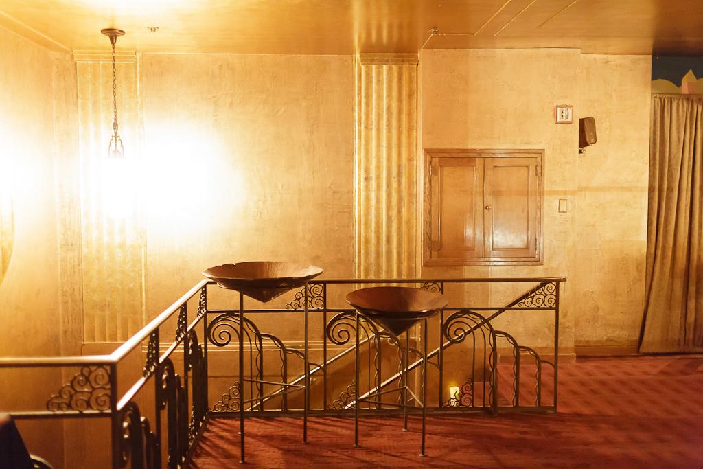 Downtown Los Angeles Wedding Photographer Interior of the Art Deco 1928 Cicada Restaurant