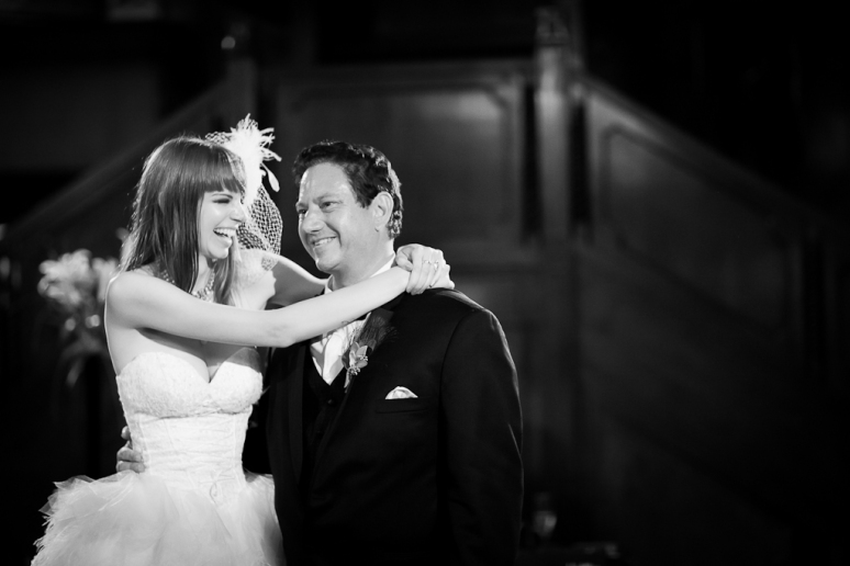 Downtown Los Angeles Wedding Photographer Bride & Groom's First Dance at the 1928 Cicada