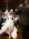 Downtown Los Angeles Wedding Photographer Bride dancing in a Zuhair Murad Gown at the Cicada