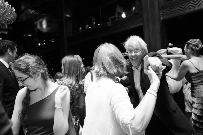 Downtown Los Angeles Art Deco Wedding Photographer Guests dancing at the Cicada