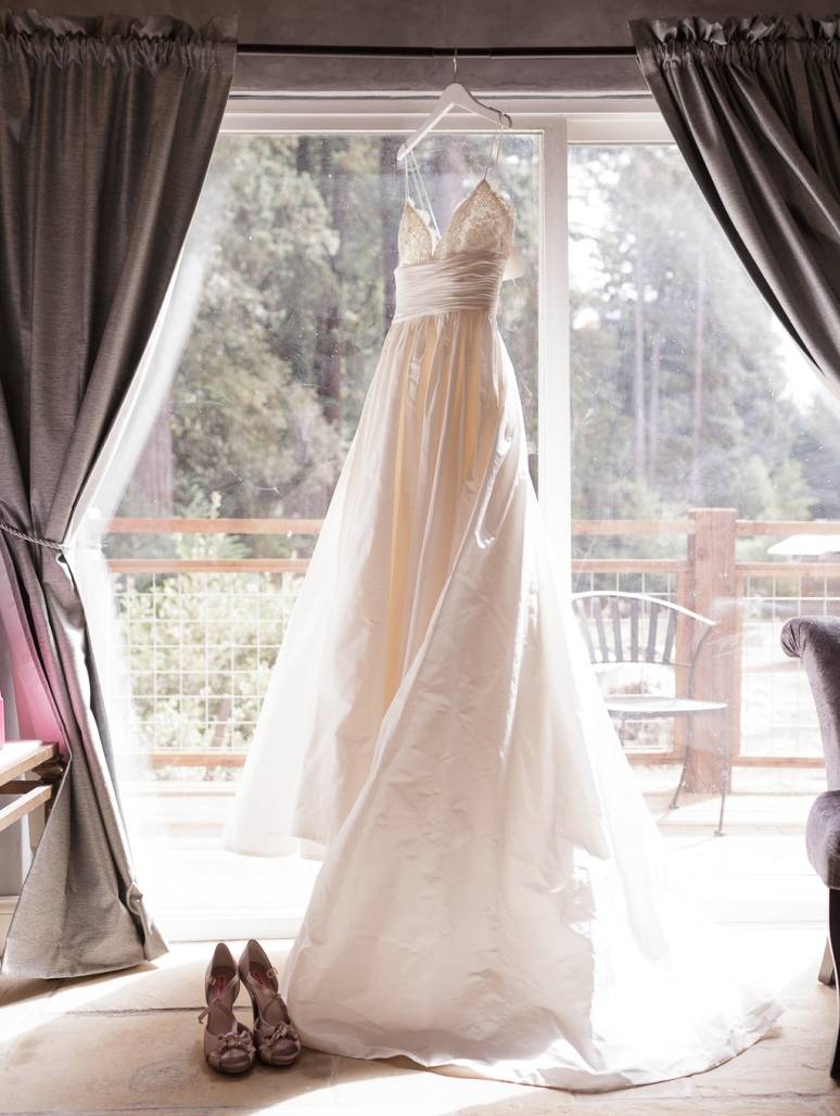Bride's Dress in the Window at Santa Cruz Castle House and Gardens Wedding Photographer