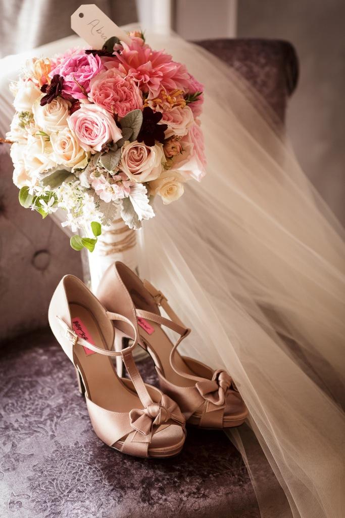 Santa Cruz Castle House and Gardens Wedding Photographer Bride's Bouquet by Tessa's Garden Florist