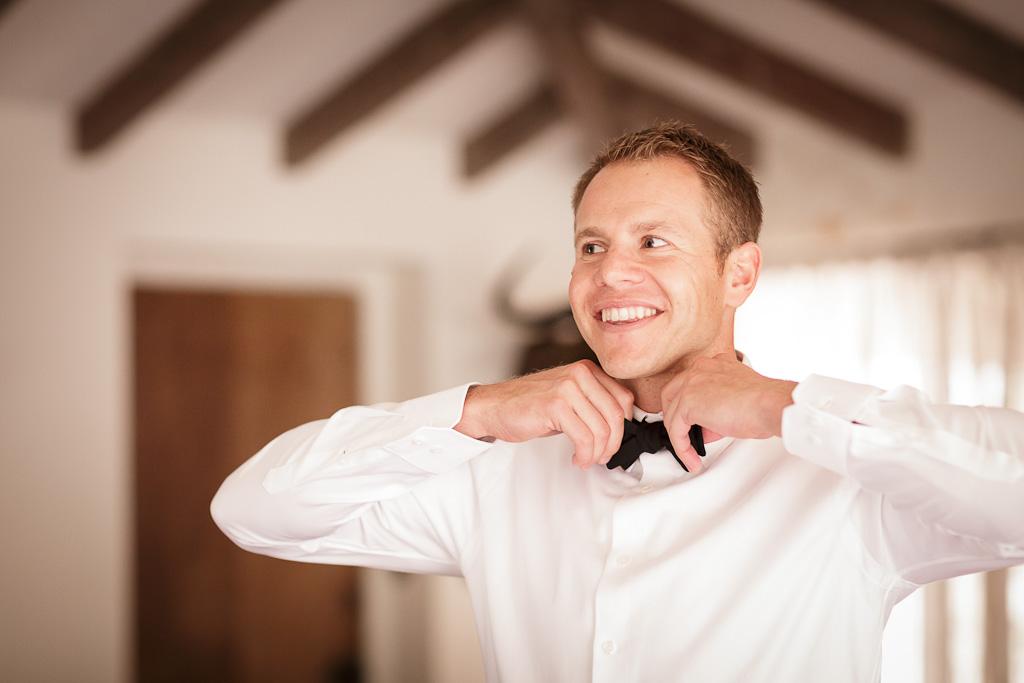 Santa Cruz Castle House and Gardens Wedding Photographer Groom Getting Dressed
