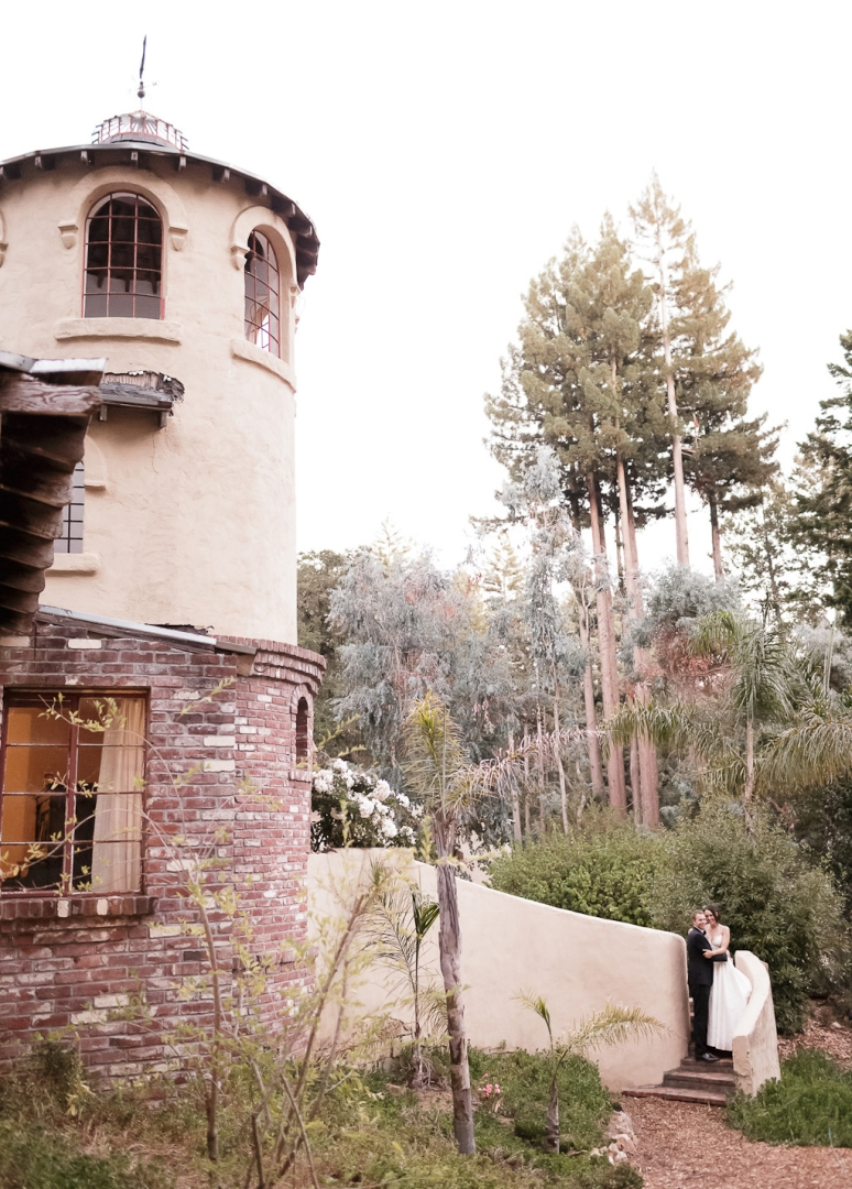 Santa Cruz Wedding Photographer Bride and Groom the Castle House and Gardens