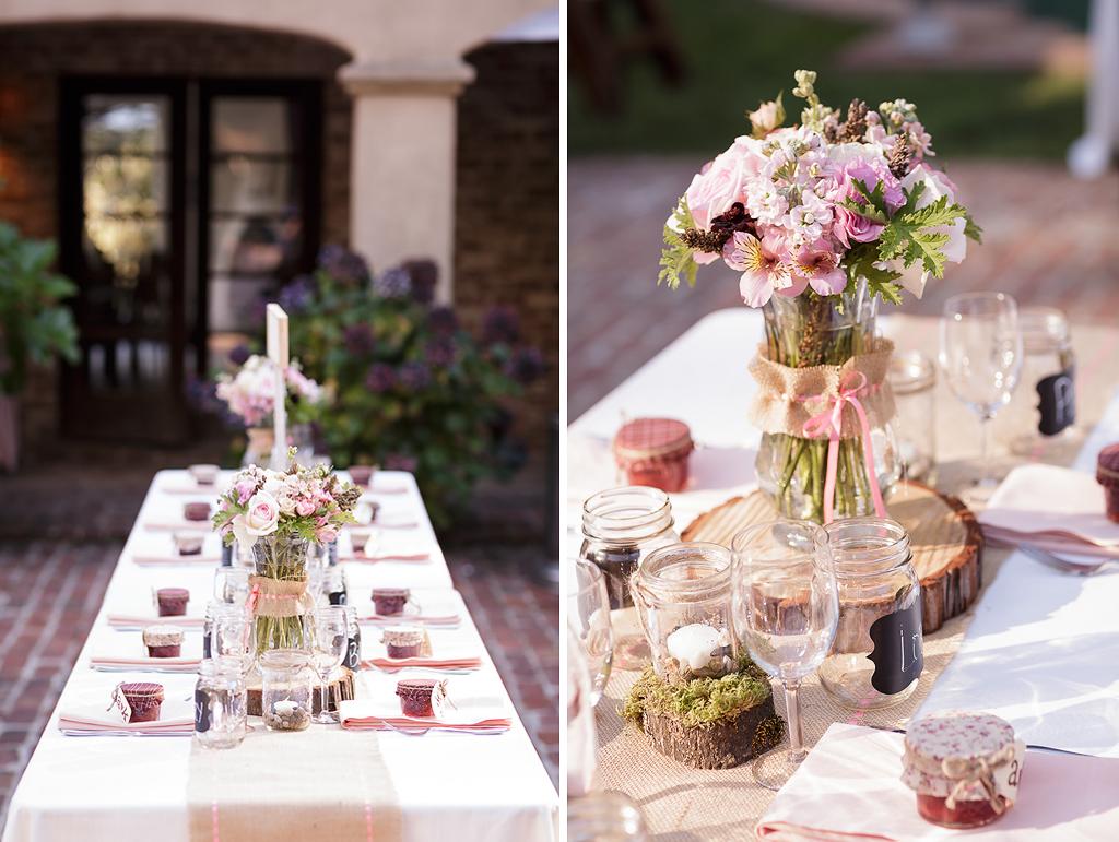 Santa Cruz Wedding Photographer Pink and Aqua Details at the Castle House and Gardens