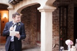 Santa Cruz Wedding Photographer Best man giving his toast at the Castle House and Gardens