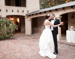Castle House and Gardens in Santa Cruz Wedding Photographer Bride and Groom's First Dance